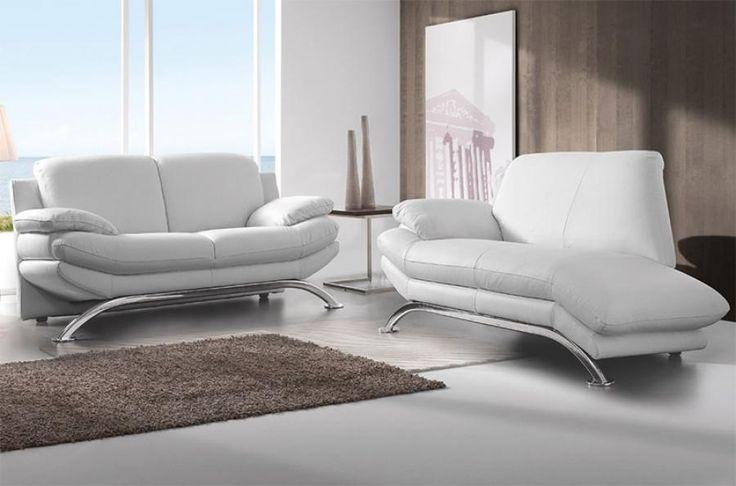 DeltaSalotti Contemporary Armonia 2 Seater Chaise Longue and 3 Seater Sofa Set