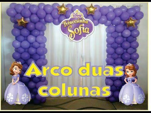 Como Fazer ARCO DE BALÕES QUADRADO /PRINCESA SOFIA - YouTube