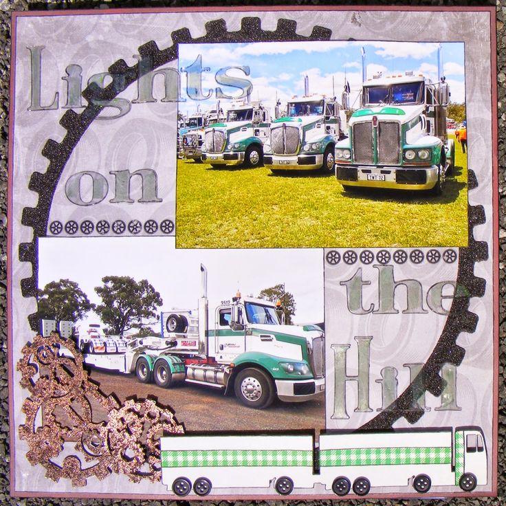 A2Z Scraplets: Trucks and gears and swirls, oh my! www.a2zscraplets.com.au ~Karyn Watton