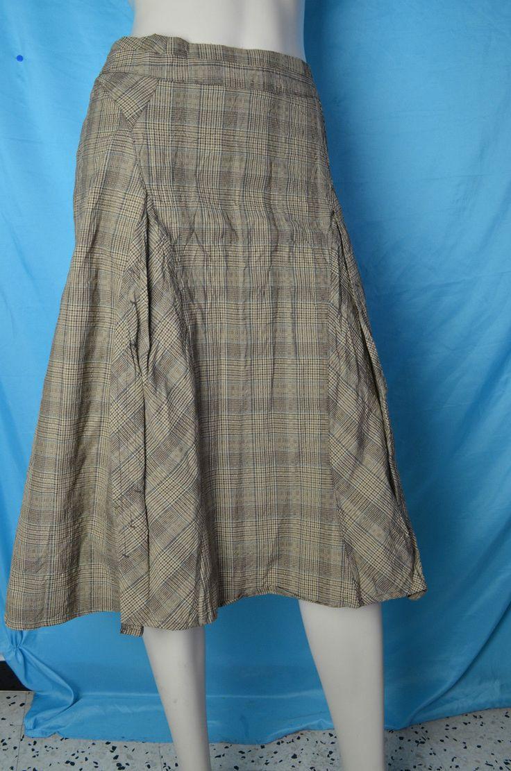 Cotélac jupe écossaise T 1 beige à rayures marron et gris   Vêtements, accessoires, Femmes: vêtements, Jupes   eBay!