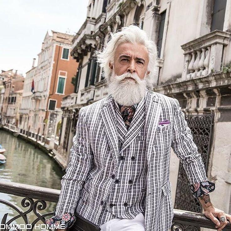 Alessandro Manfredini @karlmommoo Gentleman Venice #model #fashion #gentleman #wool #alessandromanfredini #dandy #style #streetstyle #denim #madeinitaly #manwithstyle #manwithclass #fashionblogger #fashion #class #beard #gentleman #beardporn #whitebeard #venice...