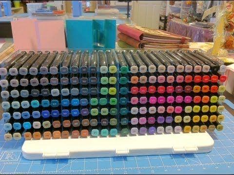 Organizing  Spectrum Noir Pens in the Ultimate Pen Storage System
