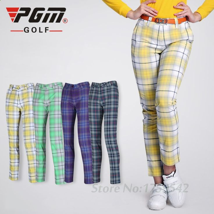 Womens High Quality PGM Golf Pants Lady England Style Pants Trousers Clothing Golf Ball Plaid Sports Leisure Soft Trousers