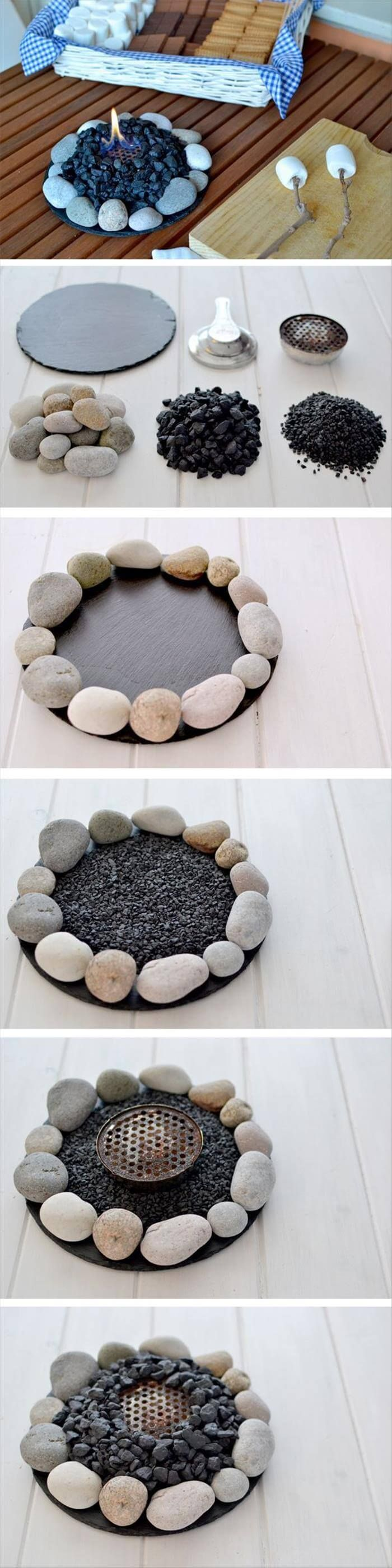 Small Round Fire Bowl for a Table