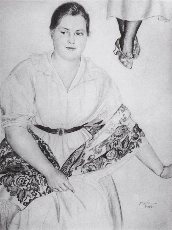 Sketch - Boris Kustodiev, 1917