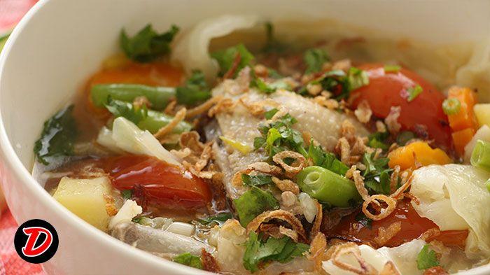 Resep Sup Ayam, Ikuti video masak cara membuat sup ayam step by step. pertama siapkan bahan