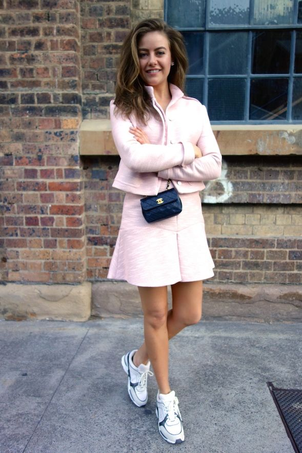 STREET STYLE | April Rose Pengilly at Mercedes-Benz Fashion Week Australia wearing our Fabric Mache jacket & Fabric Mache skirt