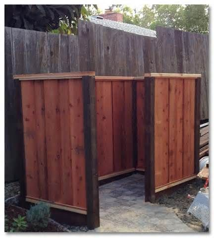 Garbage Can Enclosure Fence Bing Images Trash Recycle