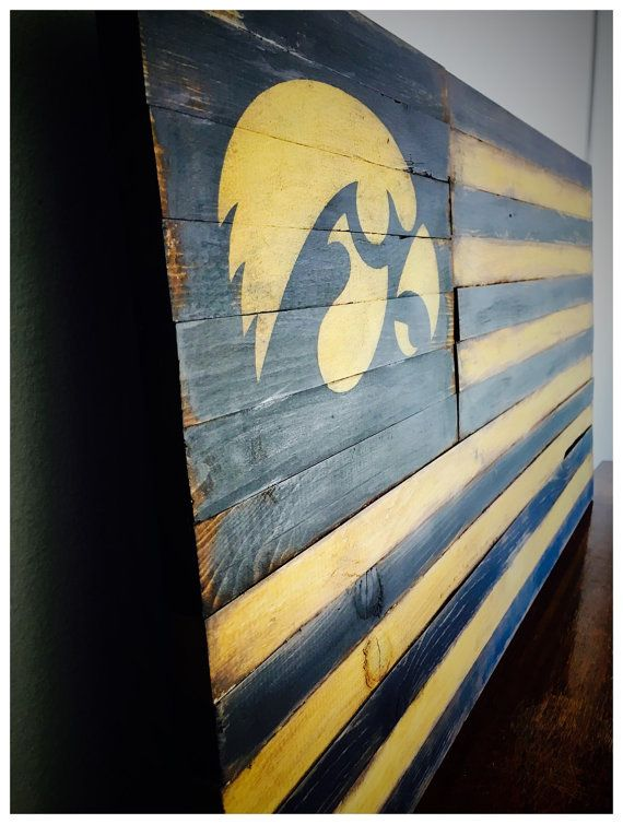 Iowa Hawkeyes Hawkeyes Alumni Sign Wood by AmericanFlagShop