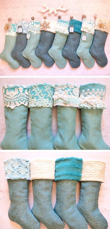 Turquoise Christmas Stockings