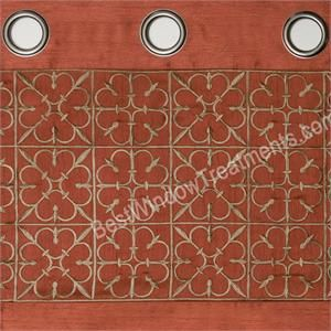 Gate Grommet Top Curtain Panel In Burnt Orange  Ready Made Curtains