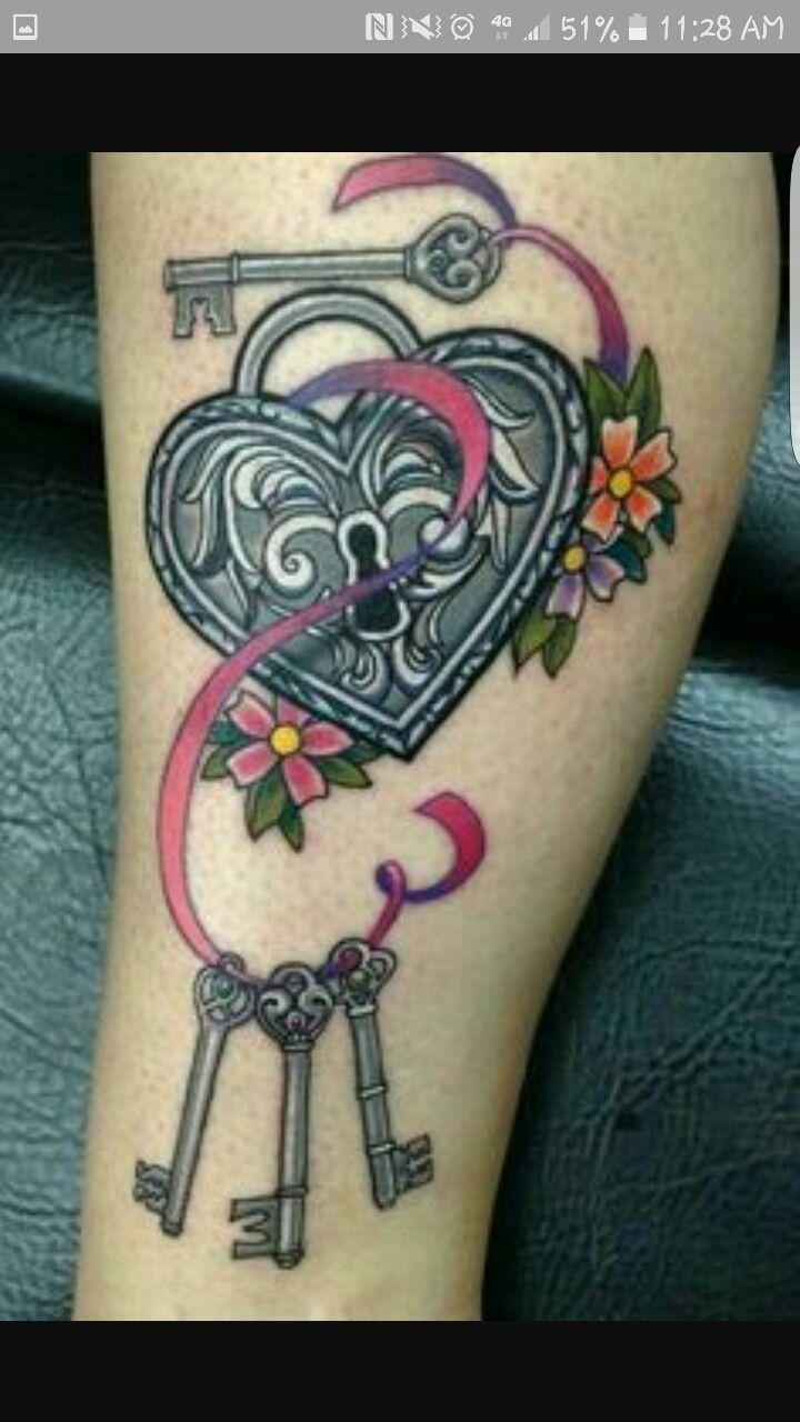 Pics photos heart lock flowers n key tattoo design - Heart Lock And Key Tattoo By Manuel Flowers At Next Level In Tempe Arizona