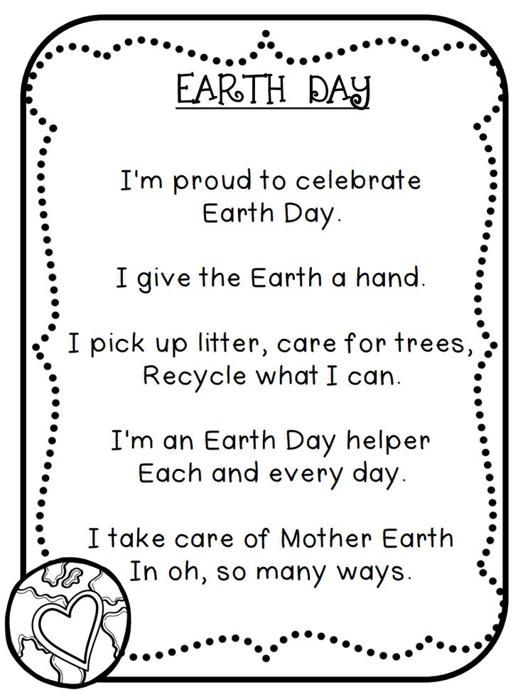 earth day poems for kids - photo #10