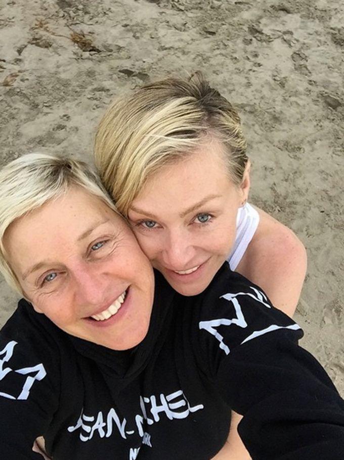 Ellen DeGeneres Posts Sweet 57th Birthday Selfie With Portia De Rossi