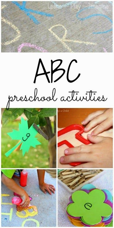 Play based alphabet activities for preschool to make learning FUN!