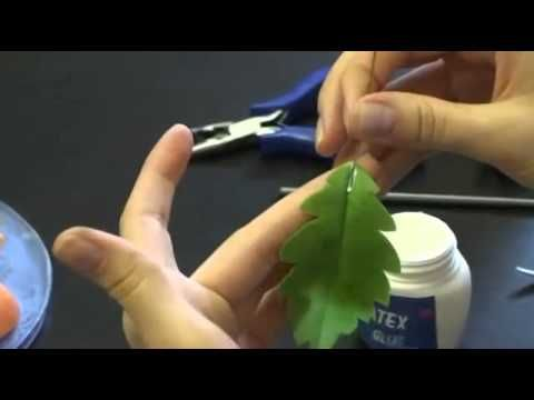 Керамическая флористика. Мастер-класс по керамической флористике - Мак - YouTube