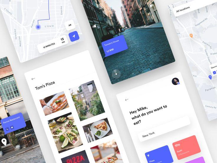 Food app - Map & AR by Nicola Baldo