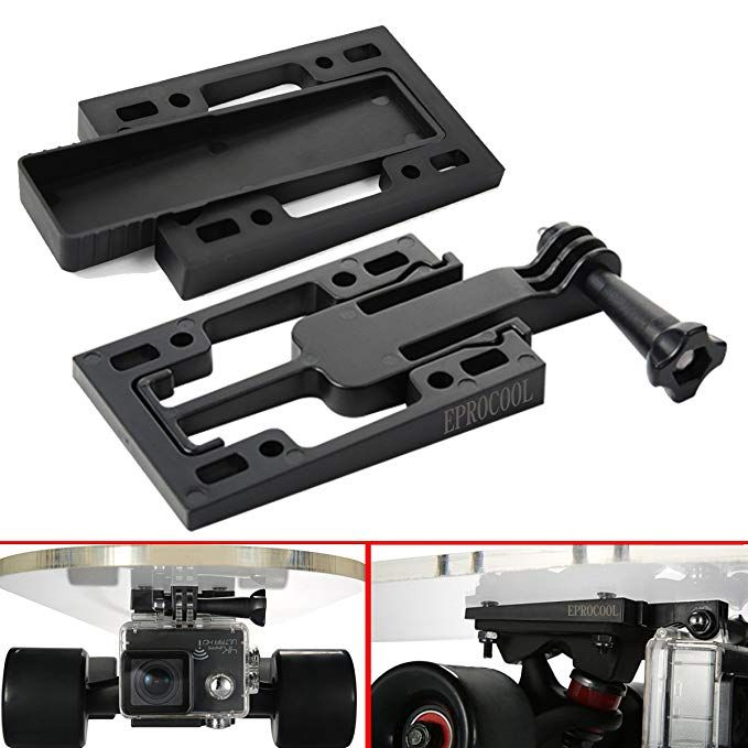 Eprocool Skateboards Risers Pads Dv Mount For Gopro Hero Skate Truck Risers For Sport Camera Truck Spacers With Drawer Black Review Sports Camera Gopro Wireless Ip Camera