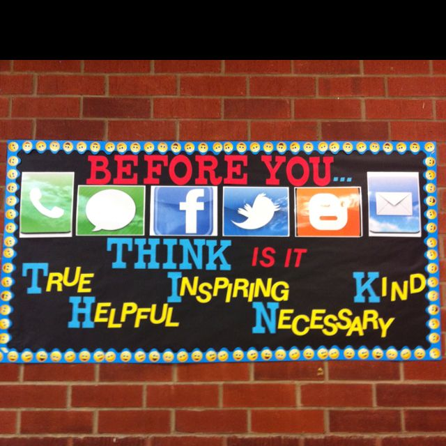 Like this for middle/ high school  social media bulletin board