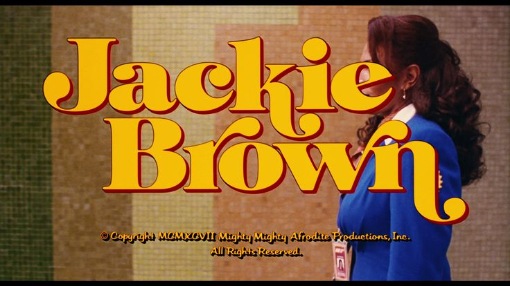 Jackie Brown main title set in Goudy Heavyface, Lanston Monotype's response to the popularity of Cooper Black.