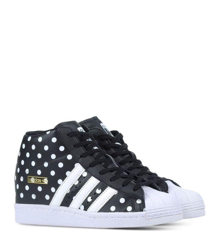 Adidas Originals Black Superstar Up Sneakers
