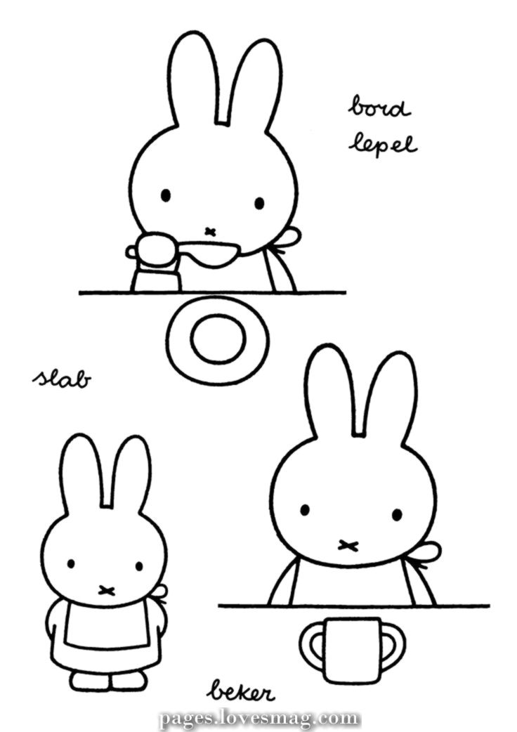 Beautiful Coloring Web Page Miffy Miffy Coloring Pages Bunny Drawing
