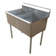 Two Compartment Commercial Sink