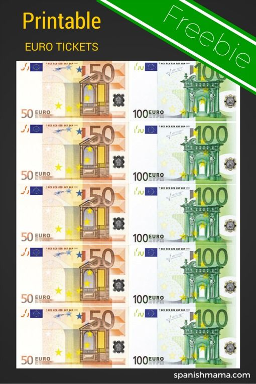 Printable Conversation Euro Tickets. I use these to track participation in my Spanish classes.