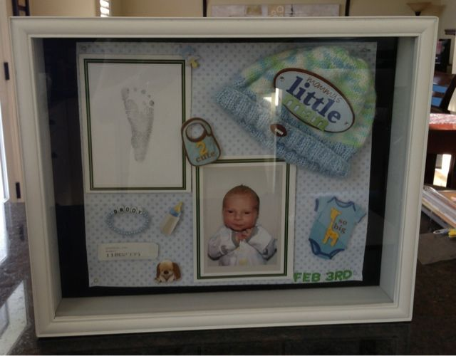 How to make a newborn shadow box for nursery. Check out my blog by clicking on the picture. Check out my many other posts while you're there. Lots of good stuff for new parents :-)
