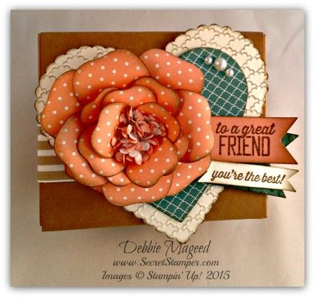 The Kraft Takeout Boxes are the perfect size to embellish and add paper & stamping!