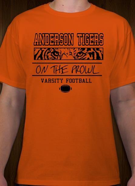 5993742ca Tigers varsity football t-shirt design. Make custom school tees online.