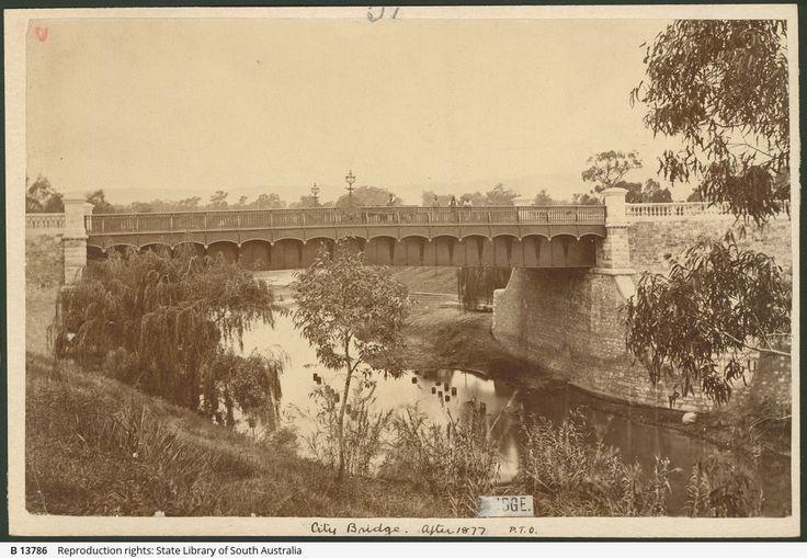 Bridge Over the River Torrens, Adelaide c 1877