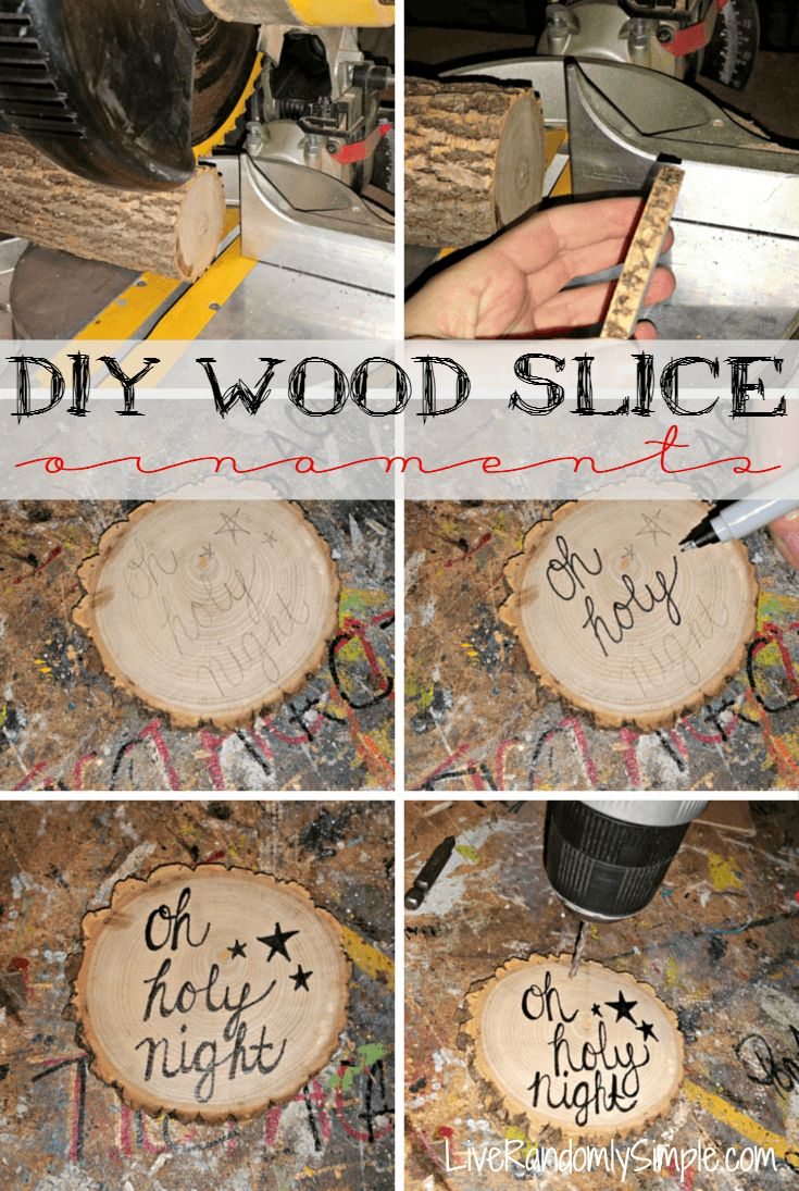 DIY Wood Slice Personalized Ornaments or Gift Tags | Live Randomly ...
