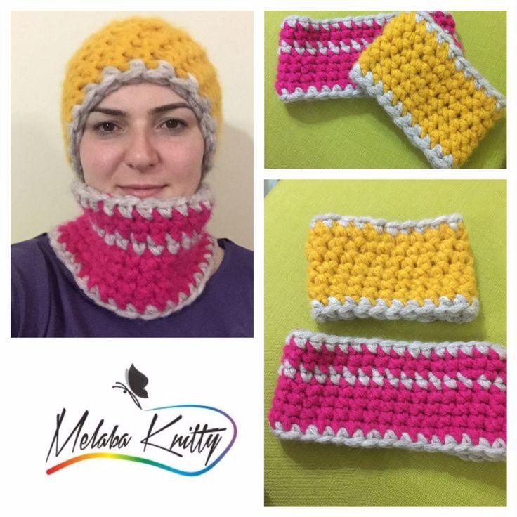 #bant ve #boyunluk ☺️ #parmakörgüsü #elyapımı #elişi #örgü #handmade #fingerknitting #knitting #yarn #alize #alizecountry #knittersofinstagram #gift #hediye #giftideas #today #pink #yellow #grey #pembe #sarı #gri #headband #scarf