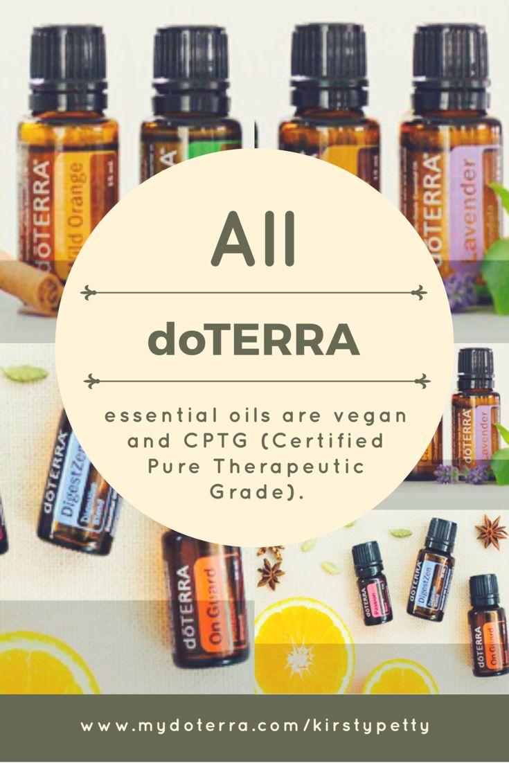 All dōTERRA essential oils are vegan.