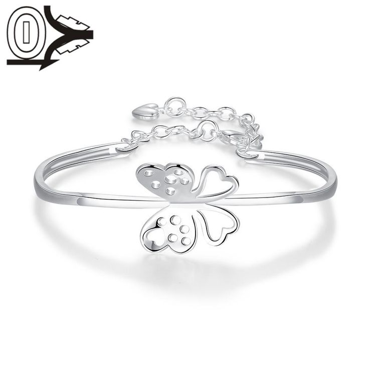 Factory Price Hot Sell Silver Plated Bangle,Wedding Jewelry Accessories,Europe Hollow Butterfly Fashion Silver Bangles Bracelet