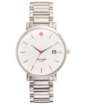 kate spade new york Watch, Women's Gramercy Stainless Steel Bracelet 38mm 1YRU0008 - Silver