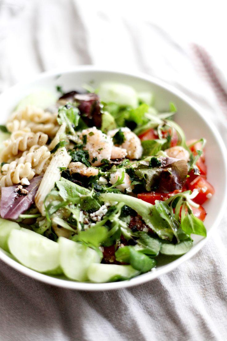 Power Bowl de crevettes et pâtes complètes – Mary Devinat