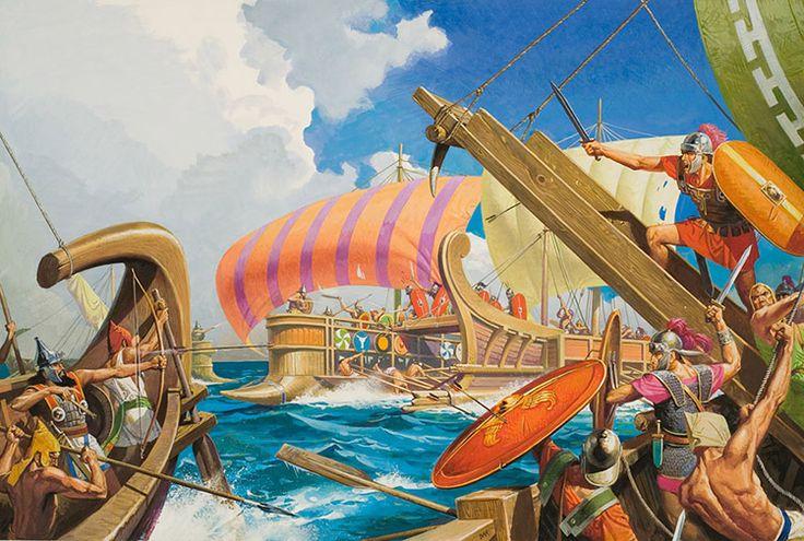 Battle of Mylae Battle of Mylae by Severino Baraldi The corvus was Romes secret