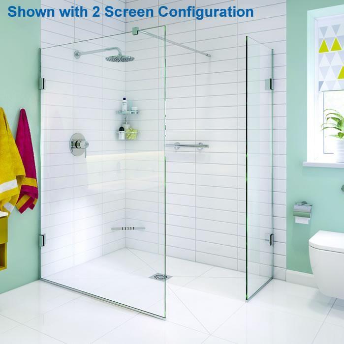 Impey Aqua Screen X - 10mm Thick Wet Room Shower Screen