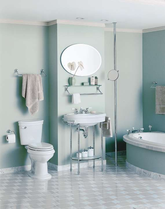a stark modern bathroom just wont do for a victorian home decorated to