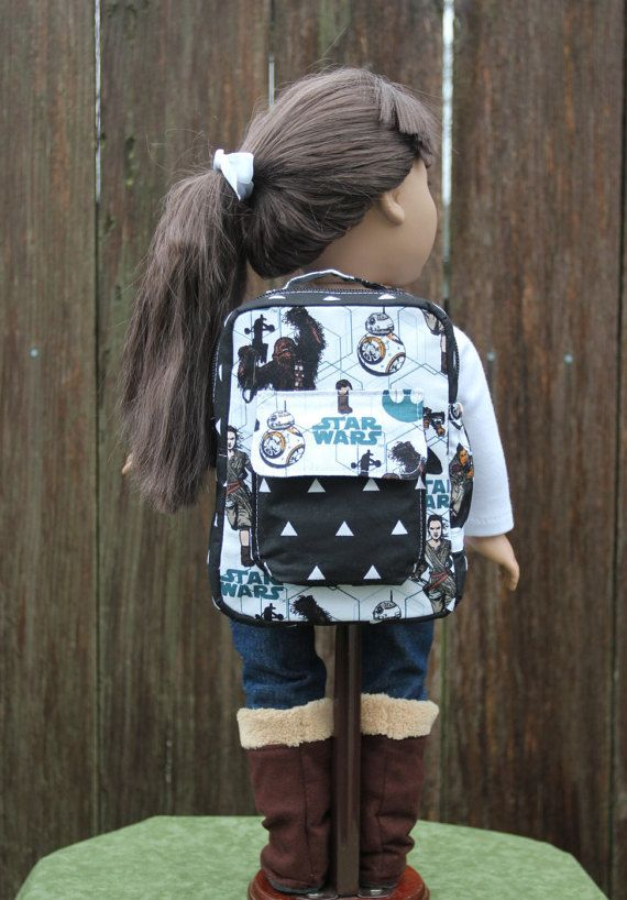 Star Wars, American Girl Doll Backpack, Doll Accessories,American Girl Doll Clothes, Our Generation Doll, Dolly and Me, 18 inch Doll