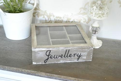 Shabby Rustic Chic Jewellery Box Storage Box Jewellery Storage Vintage Style