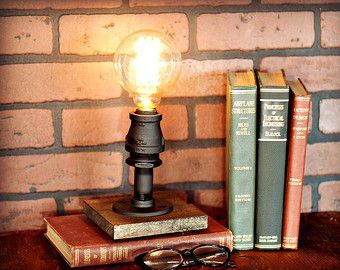 SALE Table Lamp Industrial Lighting Task by newwineoldbottles                                                                                                                                                                                 More