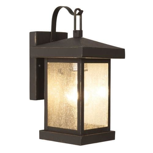 Trans Globe Lighting 45640 Asian Single Light Down Lighting Outdoor Square Wall Sconce from the Outdoor Collection, Bronze