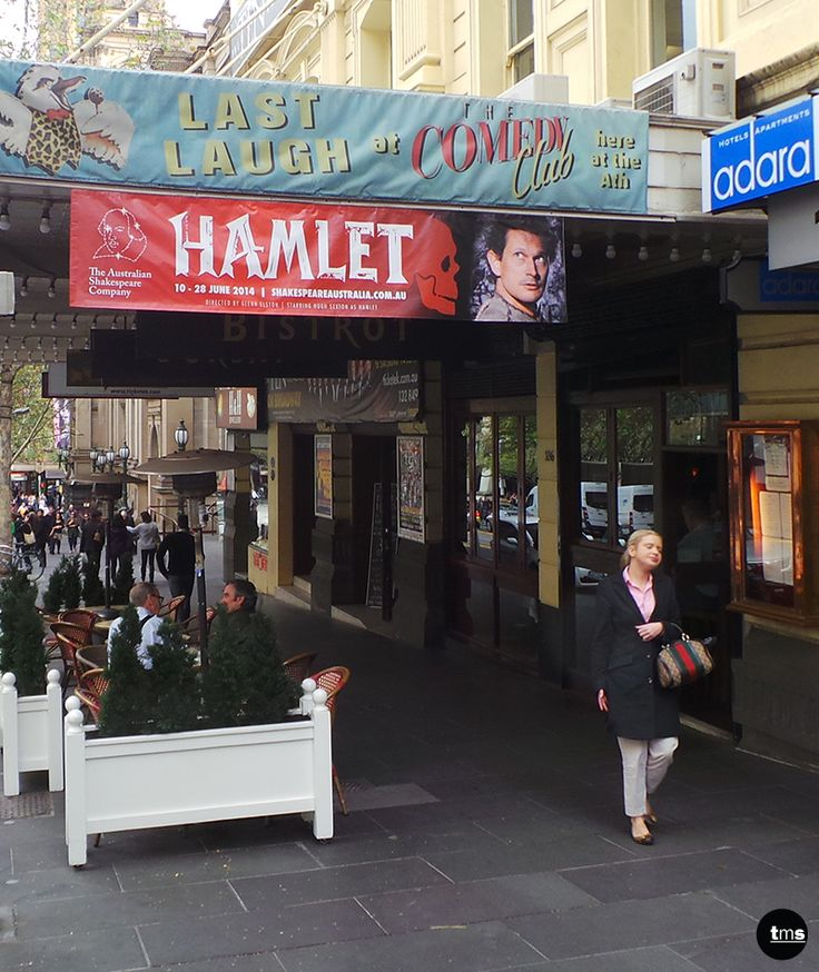 Hamlet, Theatre Banner, Temporary Advertising, The Australian Shakespeare Company