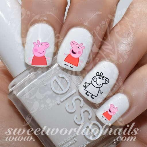 Peppa Pig Nail Art Nail Water Decals Water Slides - The 25+ Best Pig Nail Art Ideas On Pinterest Pig Nails, Animal