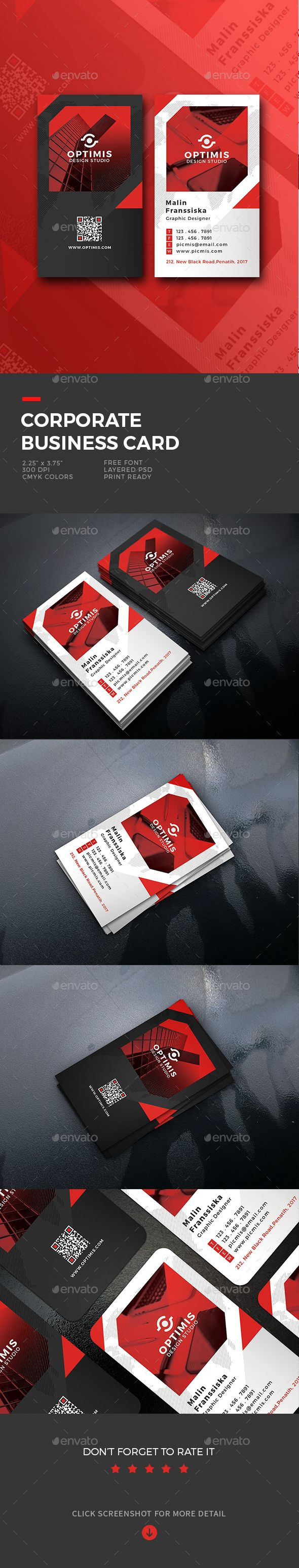 116 best name card images on pinterest business card design corporate business card template psd reheart Choice Image