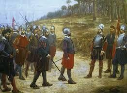 13 – En 1532, aconteció la Conquista del Perú, conducida por Francisco Pizarro con apoyo de algunos pueblos disidentes del incanato, sucedida por las guerras civiles entre conquistadores.