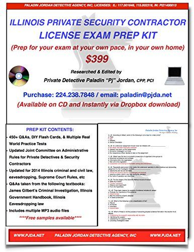 Elegant Illinois Private Security Contractor License Exam Prep Kit  Http://www.bestcheapsoftware. Contractors LicenseIllinoisSoftware